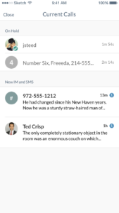 SmartOffice Mobile - Current Calls